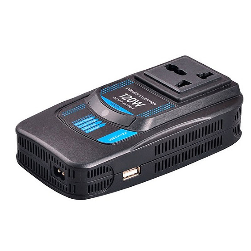 PI120-120 Watt Best Laptop Modified Sine Wave Car Power Inverter With USB Port