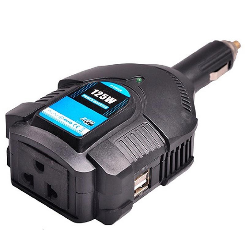 PI125-125 Watts Best Laptop Modified Sine Wave Car Power Inverter With USB Port